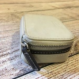 Coach Accessories - SOLD! COACH Bone Leather  Pill Box Case